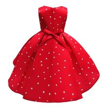 Girls Elegant Polka Princess Dress For 2-10 Years