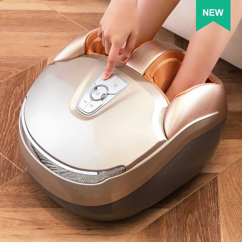 MARESE Electric Foot Massager Vibration Massage Air Pressure Machine Heating Roller Shiatsu Kneading Massage Device
