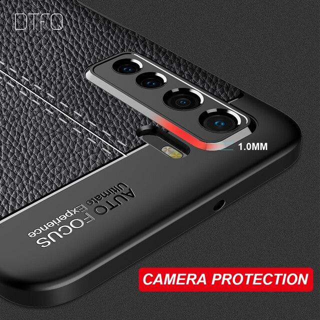 Étui souple en cuir de luxe pour Huawei P20 Lite P20 Pro étui en Silicone antichoc pour Huawei P30 Lite P30 P40 Pro P40 Lite E