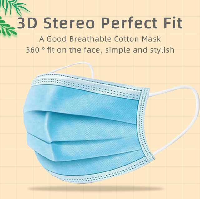 Breathable 3layer Disposable Face Masks For Kids Anti Flu Pollution Dust Soft Breathable Mascarillas Protective Mask Children 2