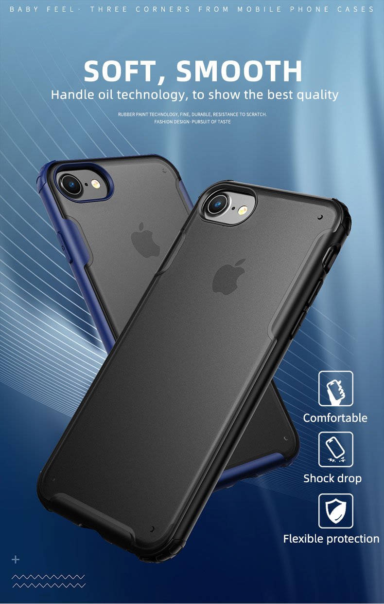 for iPhone 11 Case IPAKY Silicone PC Hybrid for iPhone X XR XS SE 2020 7 8 Plus Case Shockproof Armor for iPhone 11 Pro Max Case