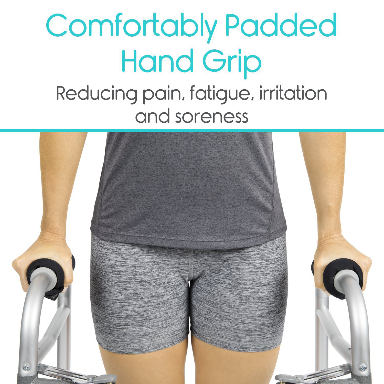 1 Pair Walker Grip Rolling Wheelchair Soft Cushion Reduce Pain Universal Hand Cover Handle Non-Slip Walker Grip For Elderly