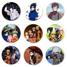 Livraison gratuite Anime Naruto Hatake Kakash Cosplay Badge Uchiha Sasuke broche Haruno Sakura broches Itachi Badges pour sacs à dos