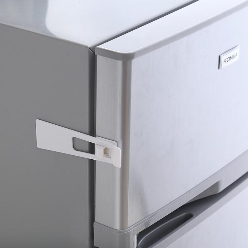 Bébé sécurité réfrigérateur serrure armoires serrure bébé sécurité Anti-pincement sécurité Protection des enfants produits d'étanchéité 5 pièces/ensemble