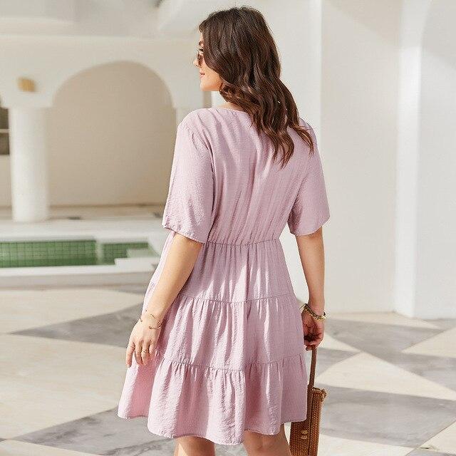 Solid Color Women's  Elegant Dress knee length Skirt 4