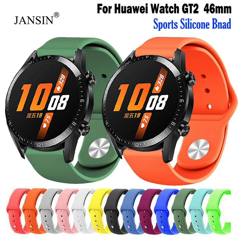 For Huawei Watch GT2 46mm Sport Replacement Silicone Watch Band Wrist Strap For Huawei GT Bracelet Accessories GT2 42mm Band