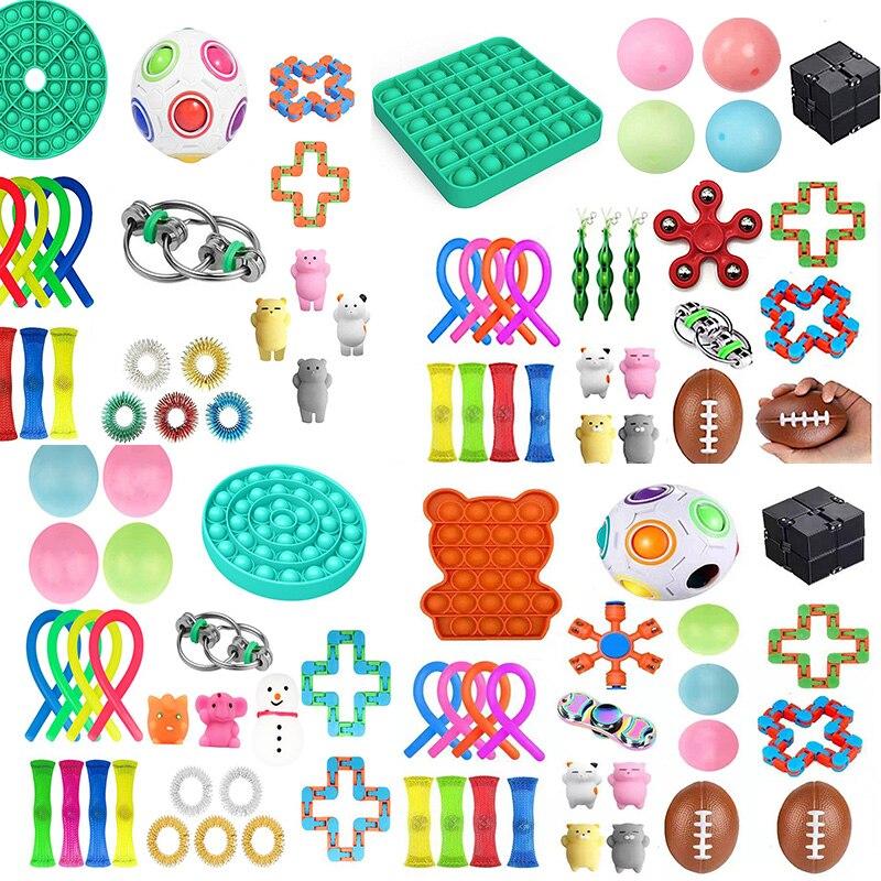Fidget Brinquedos 22PCS Pacote Conjunto Brinquedo Antistress Alívio Da Ansiedade Autismo Anti Stress Sensorial Descompressão Brinquedos Para Adultos Crianças