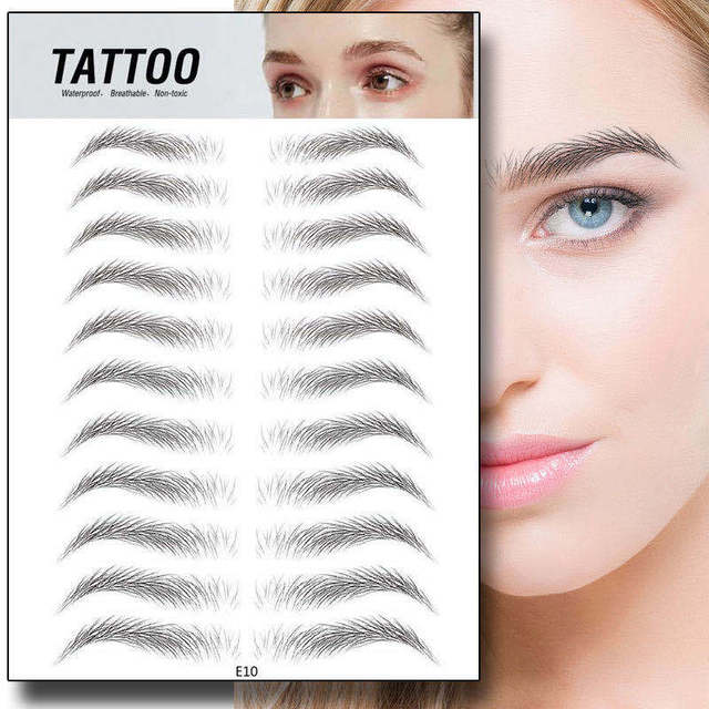 Magic False Eyebrows 4D Hair-like Eyebrow Tattoo Sticker Waterproof Lasting Makeup Water-based Eye Brow Stickers Cosmetics 5