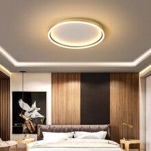 NEO بريق الذهب/أسود الانتهاء أضواء سقف ليد حديث لغرفة المعيشة غرفة نوم غرفة الدراسة المنزل 110 فولت 220 فولت مصباح السقف
