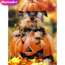 MomoArt 5D Diamond Painting Halloween DIY Full Drill Square Rhinestone Animal Embroidery Cross Stitch Home Decoration