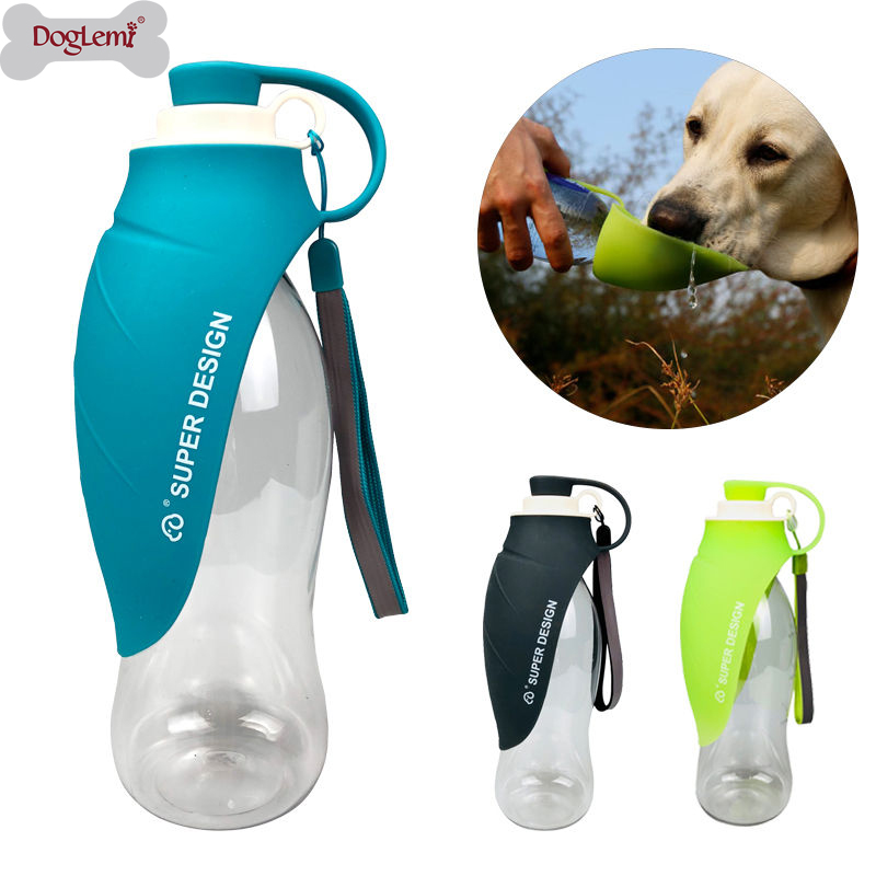 580ml Sport Portable Pet Dog Water Bottle Silicone Travel Dog Bowl For Puppy Cat Drinking Outdoor Pet Water Dispenser