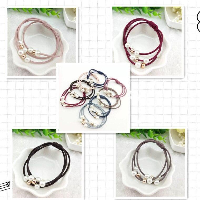 Anéis de Pérolas Três-Camada de Borracha Bandas