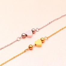 Charm Bracelets Bangle Woman Accessories Stainless Steel Jewelry Fashion Bead Chain Link Hand Wrist Friendship Heart Bracelet