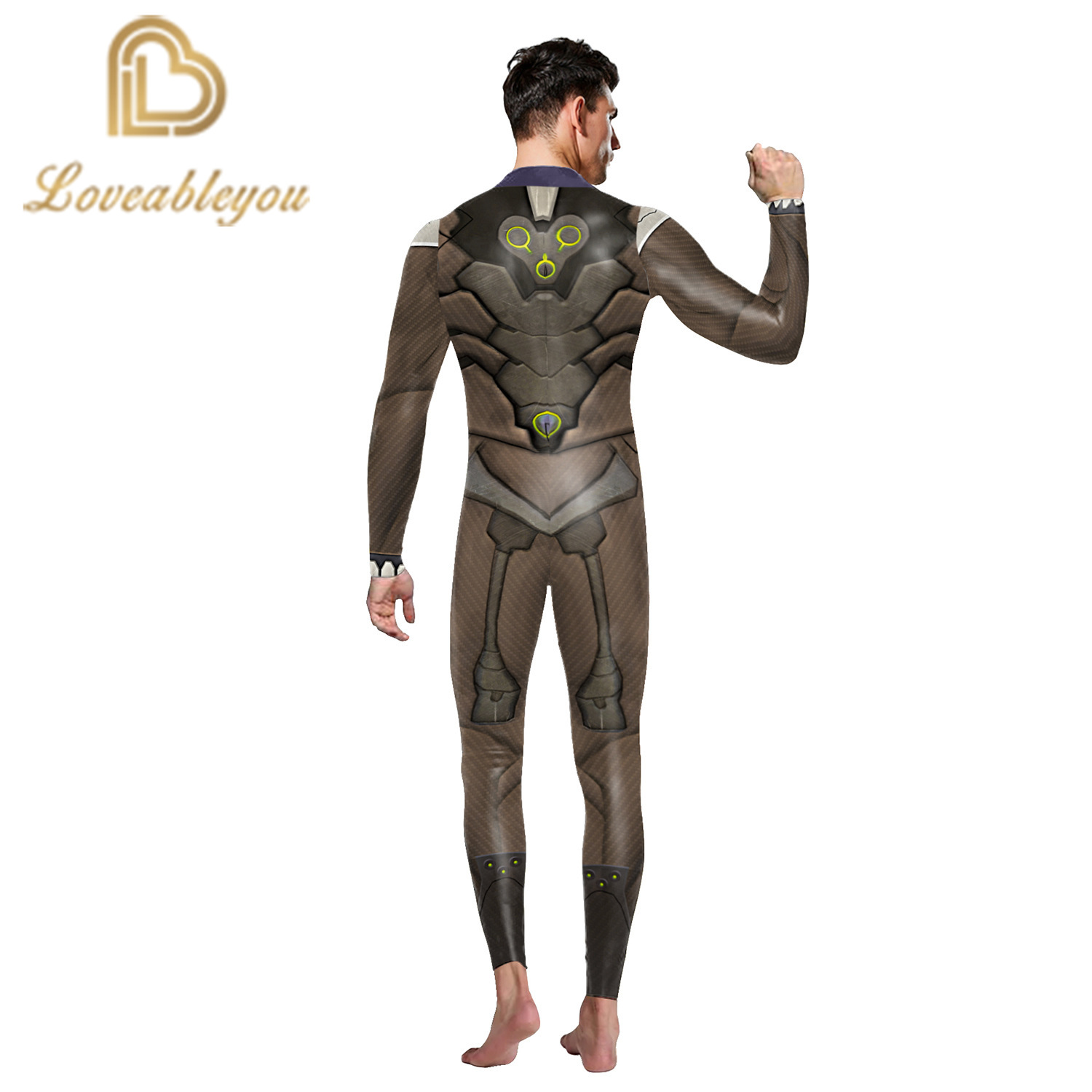 Hot Sale 2019 New Fashion Gaming Cosplay Costume 3D Printed Bodysuit for man Party Cospaly Bodysuit Sexy Jumpsuits 1