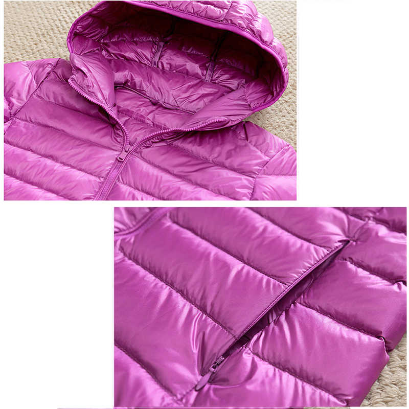 Königin Göttin Frauen Unten Jacke Mit Kapuze 90% Ente Warme Mantel Feste Tragbaren Oberbekleidung Große Größe Ultra Licht Unten Mantel Winter