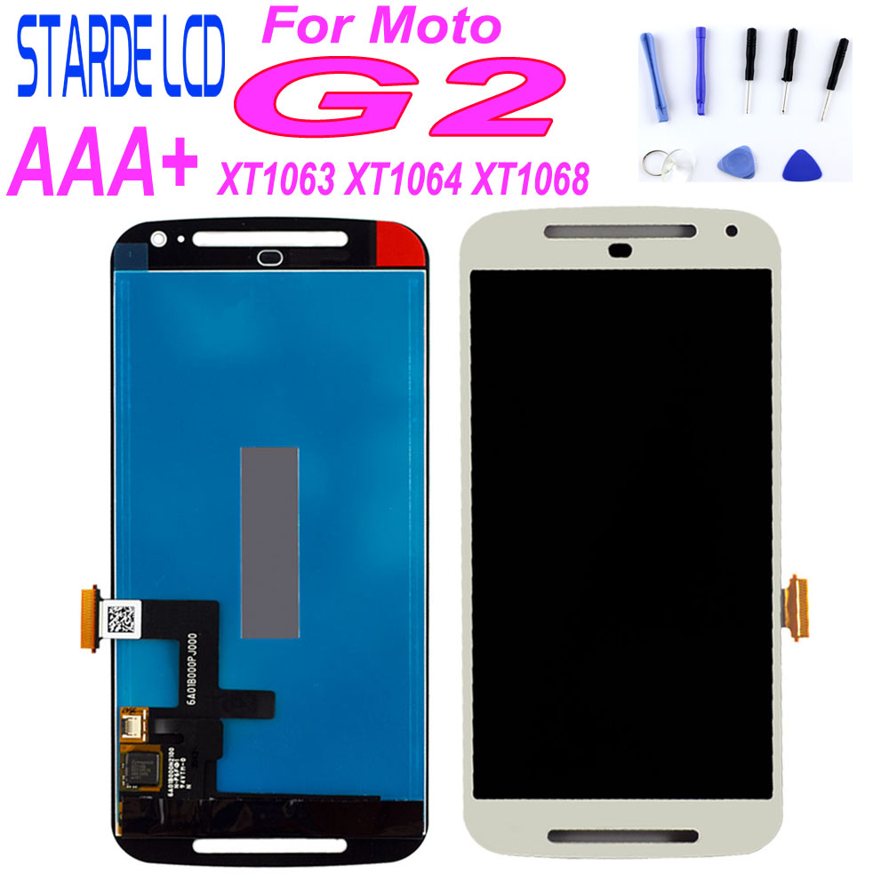 100% Tested For Moto G2 LCD <font><b>Display</b></font> With Touch Screen Digitizer Assembly For <font><b>Motorola</b></font> Moto G2 XT1063 XT1064 <font><b>XT1068</b></font> with Tools image