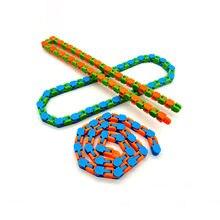 Brinquedos coloridos quebra-cabeça sensorial faixas snap e clique fidget brinquedos crianças brinquedos fidget alívio do estresse girar e forma 24bit wacky # y5