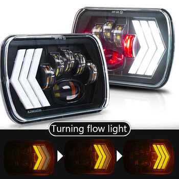 110W 5X7 7X6 inch Rectangular Sealed Beam LED Headlight With DRL for Jeep Wrangler YJ Cherokee XJ H6014 H6052 H6054 LED