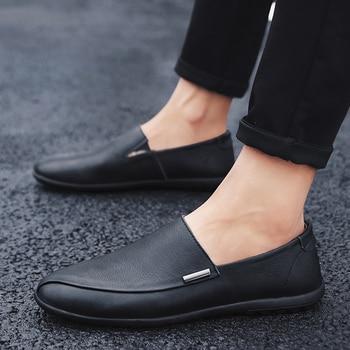 Zapatos Hombre Piel Casual Hombre Zapatos mocasín Slip On Zapatos para Hombre...