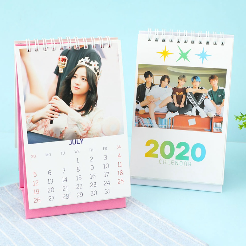 Blackpink TXT 2020 Calendar Mini Table Calendar Paper Calendar Korean Star Peripheral Products Fashion Hot Sale
