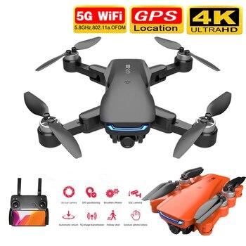 Nowy LU5 Drone 4K GPS profesjonalny podwójny aparat wysokość trzymaj tryb bezgłowy WiFi FPV składany Quadcopter wysokość trzymaj zabawki zdalnie sterowane Dron
