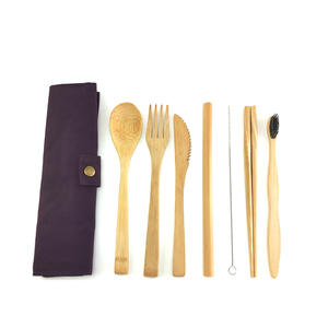 Disposable Cutlery Utensil-Set Eco-Flatware-Set Wooden Plastic To Bamboo Reduce