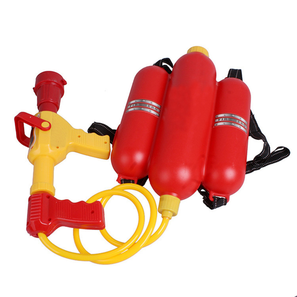 Fireman Toys Backpack Water Gun Blaster Extinguisher Nozzle And Tank Set Children Outdoor Water Toy Beach Toy