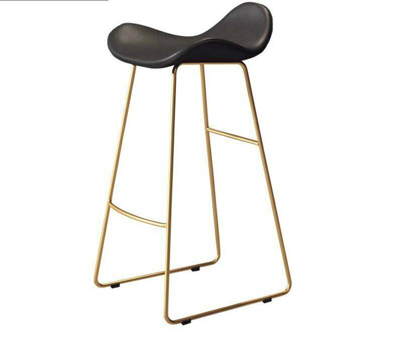Modern Simple Bar Chair Northern Europe High Stool Domestic Bar Stool High Foot Net Red Bar Stool Front Desk Chair Bar Chair
