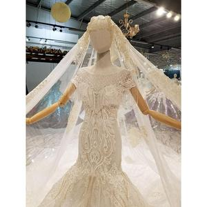 Image 3 - فساتين زفاف AIJINGYU في الثياب للنساء الأميرة البيضاء عالية الخصر رائع فستان عروس رومانسي أبيض