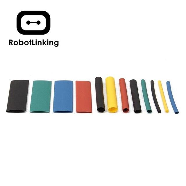 Nuovo 530pcs guaina termorestringente multicolore isolamento termorestringente assortimento poliolefina elettronica rapporto 1 1 Kit tubo manica avvolgente