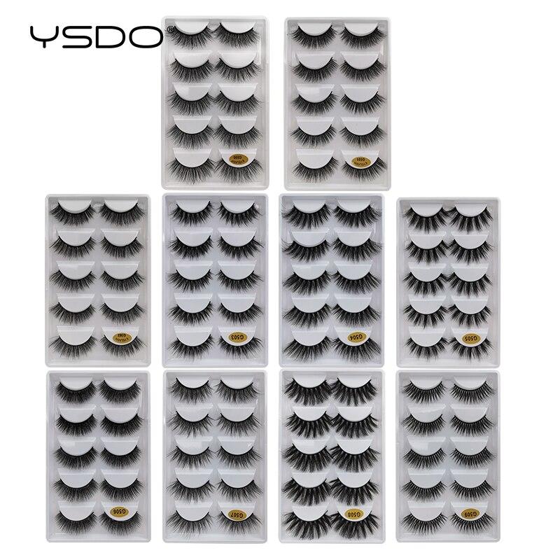 Image 5 - YSDO 5 pairs 3d mink lashes natural long mink eyelashes lashes maquillaje eyelash extension faux cils volume false eyelashes G5-in False Eyelashes from Beauty & Health