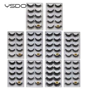 Image 5 - YSDO 5 أزواج ثلاثية الأبعاد المنك جلدة الطبيعية طويلة رموش بالمنك جلدة maquillaje رمش تمديد فو حجم الرموش الصناعية G5