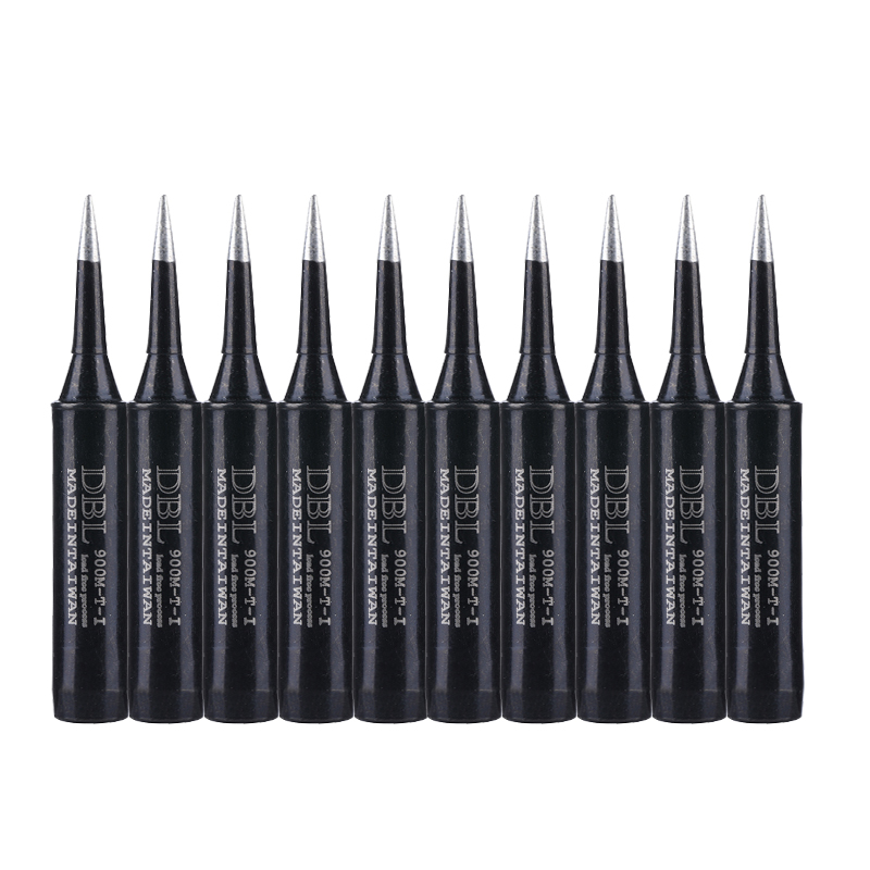 10PCS/Lot 900M-T-I Lead-free Soldering Tip Black Metal Solder Iron Welding Tips BGA Soldering Station Repair Tools