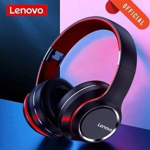 Image 1 - レノボHD200 bluetoothワイヤレスステレオヘッドフォンをキャンセルするノイズとロング待機寿命BT5.0 xiaomi iphoneレノボヘッドセット