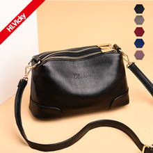 2019 Luxury Small Womens Shoulder Bags Black Long Strap High Quality PU Leather Envelope Crossbody Over Female