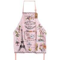 Rosa doce les macarons de paris adulto cozinha avental mulher flores impressão avental tablier cozinha pinafore avental|Aventais| |  -