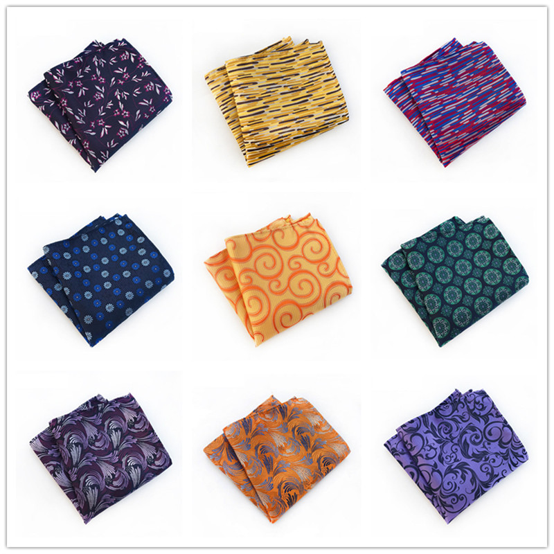 New Mens 100% Silk Handkerchiefs Floral Paisley Man Pocket Squares For Suits Jackets Wedding Party Business Fashion Gift