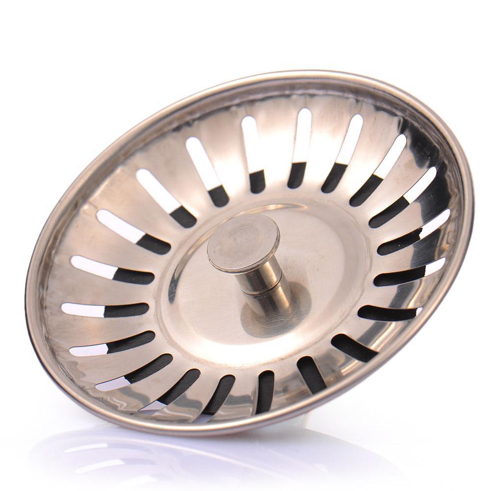 Stainless Steel Kitchen Sink Strainer Stopper Waste Plug Sink Filter Bathroom Hair Catcher Drains Strainers Kitchen Accessories