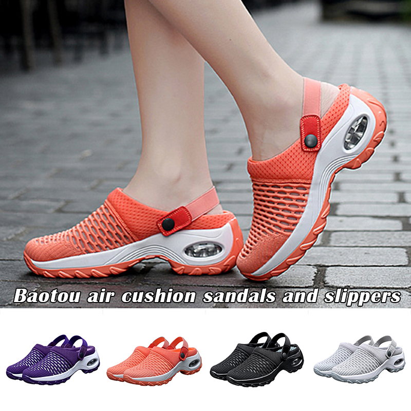 High Quality Premium Casual Comfy Women's Summer Mid-Heel Sandals And Slippers ED889
