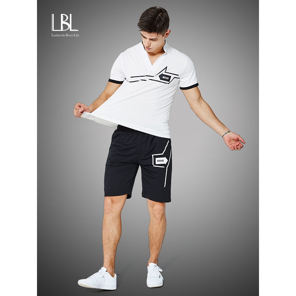 Casual Sweat Suits Men Summer Sets Active Tracksuits Stand Collar S Vetement Homme Streetwar Tops Tees & Shorts Fashion Men Set