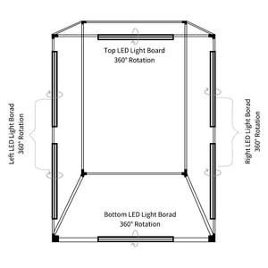 Image 5 - 200cm x 120cm x 100cm תמונה Dimmable תאורת סטודיו Softbox תיבת אור מתקפל צילום רקע ירי אוהל ערכת