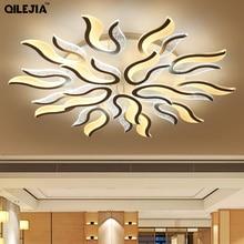 LED סלון נברשת מודרני אורות סלון חדר שינה אוכל חדר Lustres תליית Led אקריליק Lampara תאורה