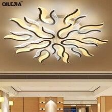 Ledリビングルームシャンデリア現代リビングルームベッドルームダイニングルームlustres ledアクリルランパラ照明