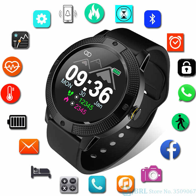 Full Touch Smart Watch  Men Women For Android IOS Smartwatch Electronics Smart Clock Wach Fitness Tracker Round Dial Smart-watch