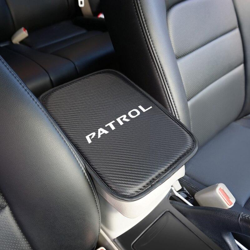 1pcs Auto Console Central Armrest Soft Pad Cushion Mat For Nissan Patrol Y60 Y61 Y62 Car Accessories