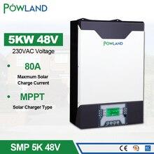 Onduleur solaire 500Vdc 5000W 80A MPPT onduleur parallèle 48V 230VAC onduleur hybride à onde sinusoïdale Pure avec chargeur de batterie