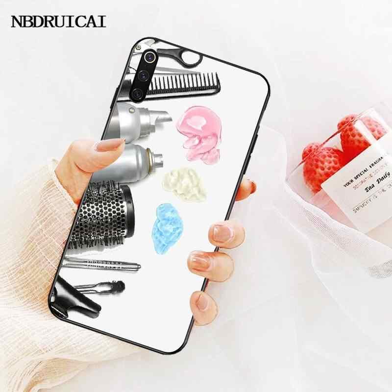 PENGHUWAN Hair Stylist Scissors Brush switch Bling Cute Phone Case for Redmi Note 8 8A 7 6 6A 5 5A 4 4X 4A Go Pro Plus Prime