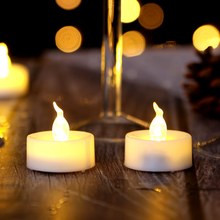 1/6/10pcs Battery Operated Flameless Led Small Candle Battery Powered Tea Lamp Flashing Christmas Wedding Wedding Creative Decor