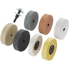 Buffing Polishing Wheel Kit 3 Inch,for Bench Buffer/Bench Grinder,Buffing Wheel Hole 3/8 Inch,Drill Arbor Adapter Kit Promotion