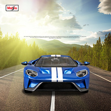 лучшая цена Maisto 1:18 2017 Ford GT Hardcover Editio Alloy Racing Convertible alloy car model simulation car decoration collection gift toy